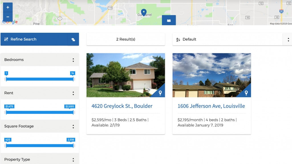 Map Search and Filter Functionality