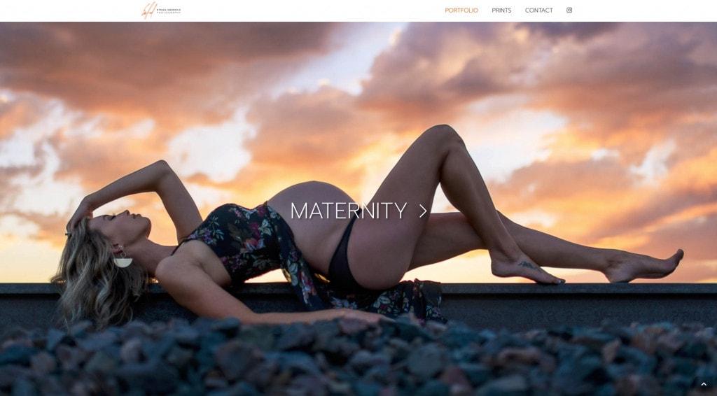 Full height imagery for portfolio navigation